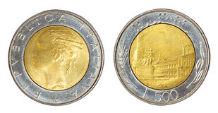 Retro coin of italy Stock Image