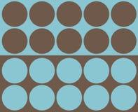 Retro collage dei cerchi Fotografie Stock Libere da Diritti
