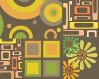 Retro collage di disegno grafico Immagine Stock Libera da Diritti