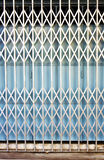 Retro collapsible gate. Detail of retro collapsible gate Royalty Free Stock Photo