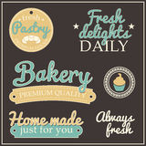 Retro collection of bakery labels Stock Photo