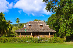 Retro colonial house at Seychelles Stock Photography
