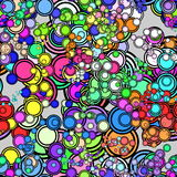 Retro color circle pattern. Abstract background design illustration Royalty Free Stock Image