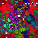 Retro color circle pattern. Abstract background design illustration Stock Images