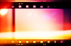 Retro color film strip background Stock Photo