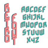 Retro color font. Illustration of retro color font Stock Photography