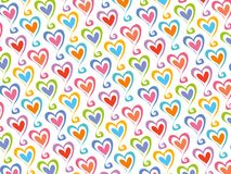 Retro color hearts pattern Stock Photo