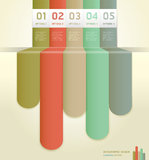 Retro Color Infographics Number Banner. Stock Photography