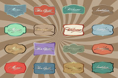 Retro color labels v2.0 Stock Photography