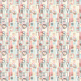 Retro color letters seamless pattern background Royalty Free Stock Image