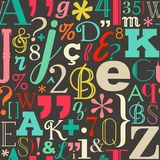 Retro color letters seamless pattern background Stock Photography