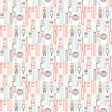 Retro color letters seamless pattern background Royalty Free Stock Photos