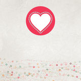 Retro color Love card for Valentin's Day. EPS 8 Royalty Free Stock Photography