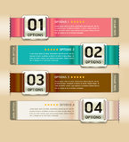 Retro Color Medals with Ribbon Style Banner. Royalty Free Stock Photos