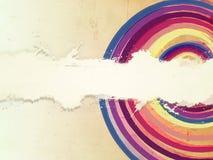 Retro color rings stock illustration