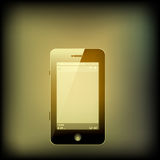 Retro color Smart phone Royalty Free Stock Photos