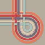 Retro color stripes loop Royalty Free Stock Image