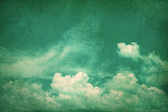 Retro color tone of Clouds with blue sky in sunny day Stock Photo