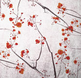 Retro color tone of flower branch with grunge background Royalty Free Stock Image