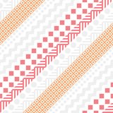 Retro color seamless pattern. Fancy abstract geometric art print. Ethnic hipster ornamental lines backdrop. Retro color tribal seamless pattern. Fancy abstract Royalty Free Stock Images