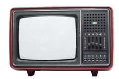 Retro color TV set Royalty Free Stock Photo