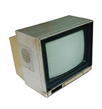 Retro color TV set on white background Royalty Free Stock Image