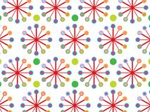 Retro color wheel pattern Stock Photography