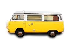 retro colore giallo del furgone Immagini Stock Libere da Diritti