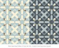 Retro colore senza cuciture Set_336 Crystal Cross Geometry Square del modello 2 illustrazione di stock