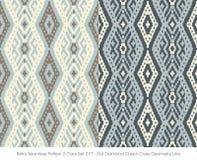 Retro colore senza cuciture Set_277 Dot Diamond Check Cross Geometry Line del modello 2 illustrazione vettoriale