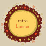 Retro  colored banner Royalty Free Stock Photos