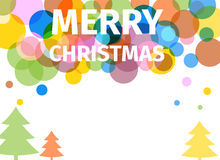 Retro colored christmas poster with trees Royalty Free Stock Images