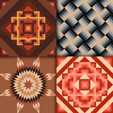 Retro colored geometric patterns background Stock Photography