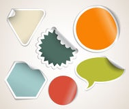 Retro colored labels badges and stickers Stock Images