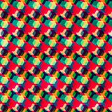 Retro colored rhombus seamless pattern Stock Image