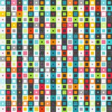 Retro colored squares seamless pattern Royalty Free Stock Image