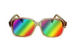 Retro colored sunglasses Stock Images