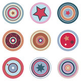 Retro Colored Vector Elements royalty free stock image