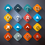 Retro Colorful Abstract Arrows Set Stock Photo