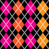 Retro colorful argile pattern - orange and pink stock illustration