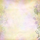 Retro colorful background with spring flowers Royalty Free Stock Images
