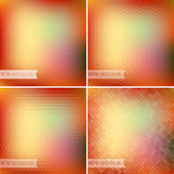 Retro colorful backgrounds collection Stock Images