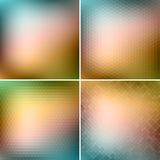 Retro colorful backgrounds collection Stock Image