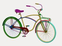 Retro colorful bike Royalty Free Stock Image