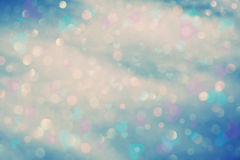 Retro colorful bokeh with hearts Royalty Free Stock Image