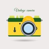 Retro colorful camera icon Stock Images