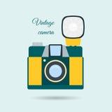 Retro colorful camera icon Royalty Free Stock Image