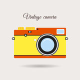 Retro colorful camera icon Stock Photography