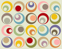 Retro colorful circles vector illustration