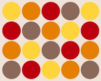 Retro colorful circles background. Retro yellow, orange, red and grey circles in a row graphic design vector illustration